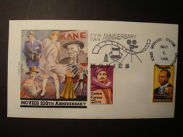 FDC, Set of (3), 100th Anniv. of the Movies. image 2