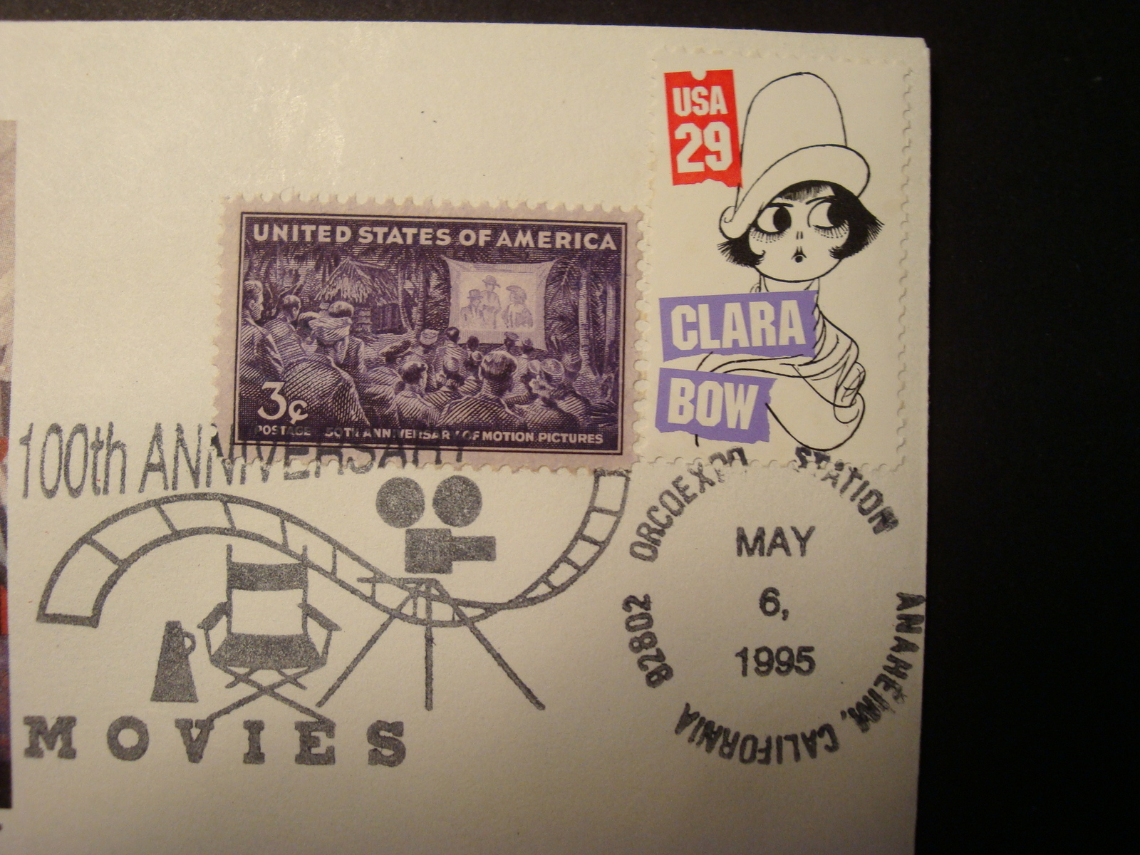 FDC, Set of (3), 100th Anniv. of the Movies. image 3