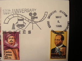 FDC, Set of (3), 100th Anniv. of the Movies. image 5
