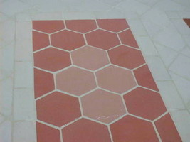 DIY Slate Texture Tile Molds (3) 12x12 Hexagon Make Concrete Floor Tiles @ $.30  image 3