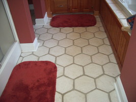 DIY Slate Texture Tile Molds (3) 12x12 Hexagon Make Concrete Floor Tiles @ $.30  image 2