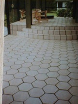 DIY Slate Texture Tile Molds (3) 12x12 Hexagon Make Concrete Floor Tiles @ $.30  image 6