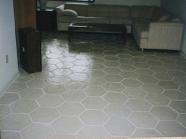 DIY Slate Texture Tile Molds (3) 12x12 Hexagon Make Concrete Floor Tiles @ $.30  image 7