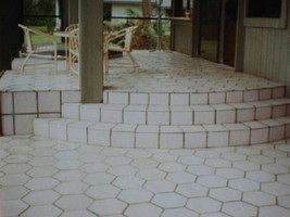DIY Slate Texture Tile Molds (3) 12x12 Hexagon Make Concrete Floor Tiles @ $.30  image 8