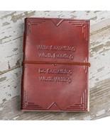 """Write Something Worth Reading"" Handmade Leather Journal - $40.00"
