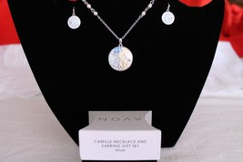 Camile Necklace and Earring Gift set - Blue (Enamel look with Rhinestones)  - $12.96