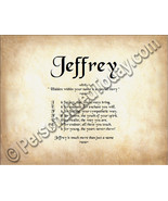 Jeffrey Hidden Within Your Name Is A Special St... - $8.95
