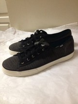 Women's Black And Gray Striped Keds  Sneakers Size 10 - $26.72