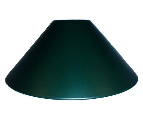 """Metal Lamp Cone Shade: Green Industrial Style 14"""" Pendant Light Shade Neckless"""