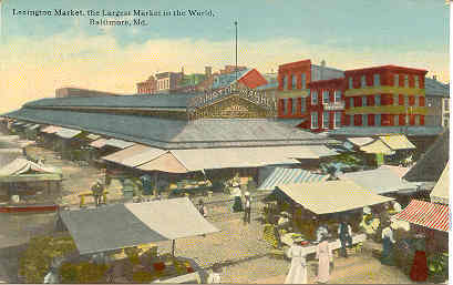 Primary image for Lexington Market Baltimore Maryland vintage 1913 Post Card