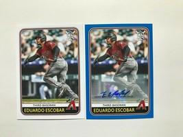 Eduardo Escobar 2020 Topps Big League Baseball Autograph Baseball Card #22 - $4.94
