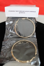 "Stunning Twist 2"" Hoop Earrings - Gold Tone - hinged back, Stainless Steel - $12.49"