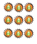 Monster Bottlecap-Download-ClipArt-ArtClip-Bottle Cap-Digital - $4.00