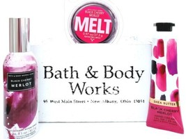 Bath and Body Works Black Cherry Merlot Wax Melt, Room Perfume & Hand Cream - $20.22