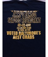 Jimmy's Famous Seafood Restaurant Baltimore, Maryland T-Shirt Sz Large B... - $15.98