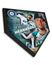 "Felix Hernandez Seattle Mariners 11.5"" x 11.5"" Home Plate Plaque  - $40.95"