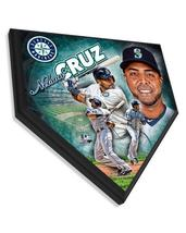 """Nelson Cruz Seattle Mariners 11.5"""" x 11.5"""" Home Plate Plaque  - $40.95"""