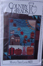 "Pattern 433 Maple Tree Lane Wall Quilt 29""x 37"" - $5.99"