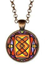 Rune Ingwaz for Fertility, Internal Growth Handmade Antique Copper Pendant - $14.95