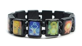Metaphysical Manifestation Prayer Black Wood Stretch Bracelet [Jewelry] - $14.95