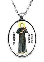 St Gerard Patron of Motherhood Huge 30x40mm Handmade Silver Plated Art P... - $14.95