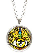 Third Chakra Opening Eye Intuition Silver Pendant with Chain Necklace [J... - $14.95