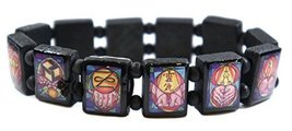 Reiki Healing Symbols Black Wood Stretch Bracelet [Jewelry] - $14.95
