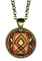 Rune Othala for Ancestral Spiritual Power Handmade Antique Bronze Gold P... - $14.95