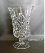 24% Full lead crystal Block handcrafted vase clear glass  - $14.99
