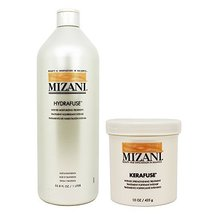 Mizani Hydrafuse Intensive Moisturizing Treatment 33.8oz + Kerafuse Inte... - $41.86