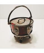Antique SIMPSON HALL MILLER Quadruple silver plated Dish Lidded bowl - $55.00