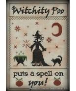 Witchity Poo halloween cross stitch chart Stitchers Anon Designs - $10.80