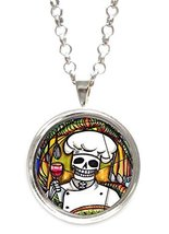 Skull Chef Silver Pendant with Chain Necklace [Jewelry] - $14.95