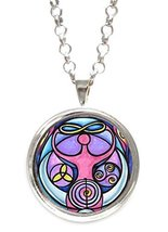 Wiccan Triple Moon Goddess Silver Pendant with Chain Necklace [Jewelry] - $14.95