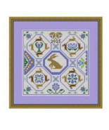A Garden Of Hares holmsey hare cross stitch chart Stitchers Anon Designs - $9.00