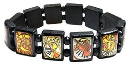 Music Lovers Black Wood Stretch Bracelet [Jewelry] - $14.95