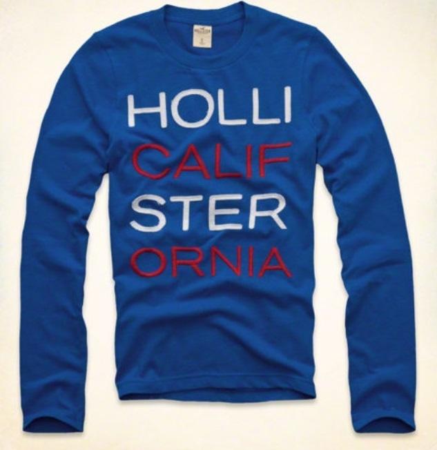 Hollister Newport Peninsula Men's Shirt size Large L NEW Blue Long Sleeve L/S - $24.99