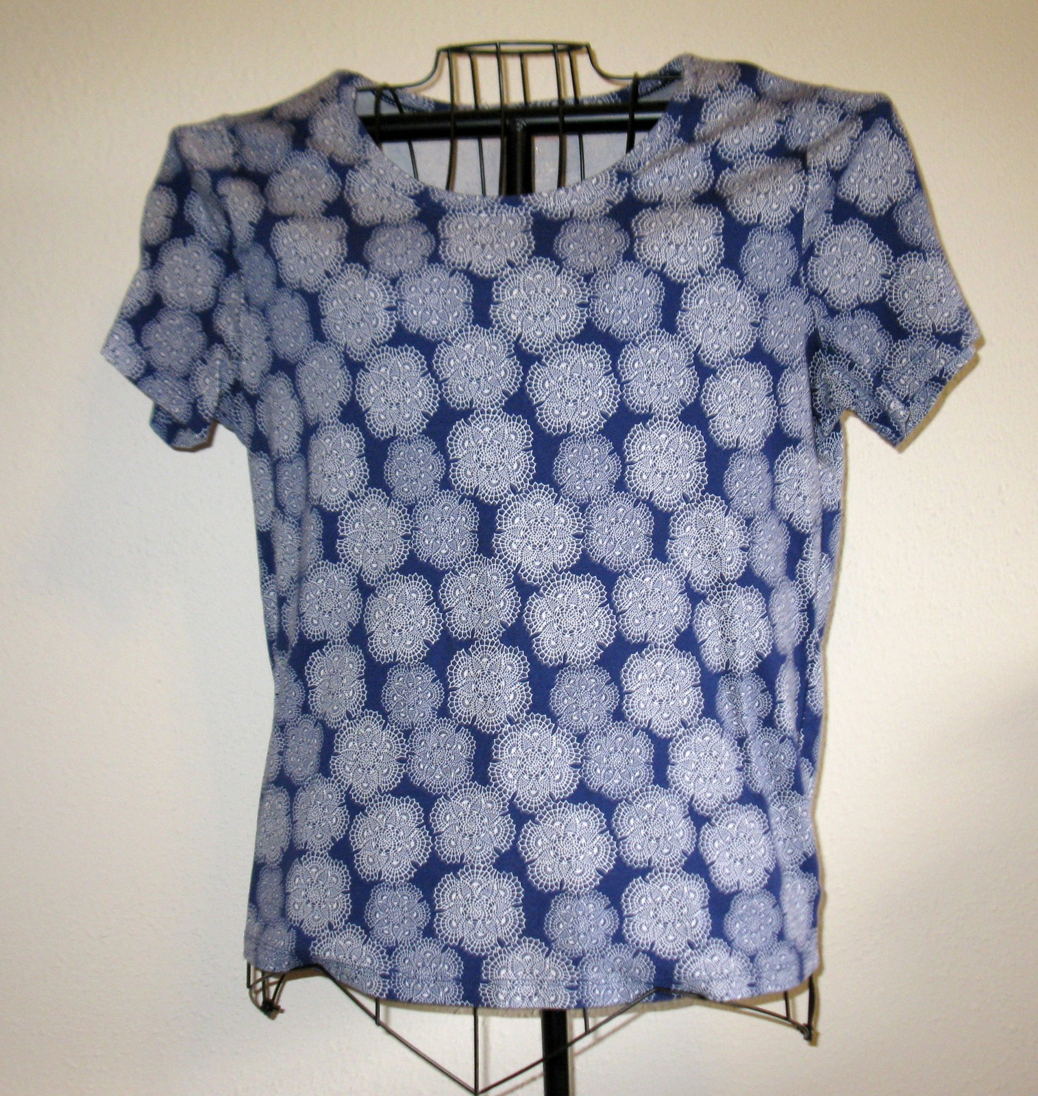 c34fe41f Navy Blue & White Design Top Shirt Blouse by and 17 similar items