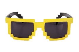 Yellow 8 Bit Pixel Costume Glasses Computer Video Game GEEK NERD COSPLAY... - $5.33