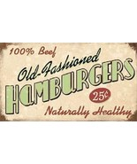 100% Beef - Old Fashioned Hamburgers Magnet - $7.99