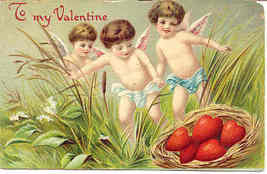To My Valentine From Cupid Vintage Post Card - $6.00