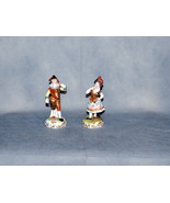 Pair Antique Derby Porcelain Commedia dell'arte Figures Hunchback & Lady - $825.00