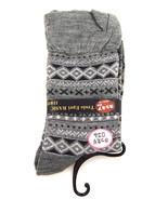Women new gray geo stripe ruffle fashion boot socks size 7-9 - $18.00