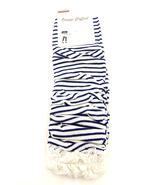 Women new blue & white stripe ruffle lace fashion leg warmer boot socks  - $19.99