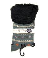 Women new gray floral stripe ruffle fashion boot socks size 7-9 - $18.00