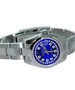 Rolex ladies datejust watch blue diamond dial  ... - $3,268.98