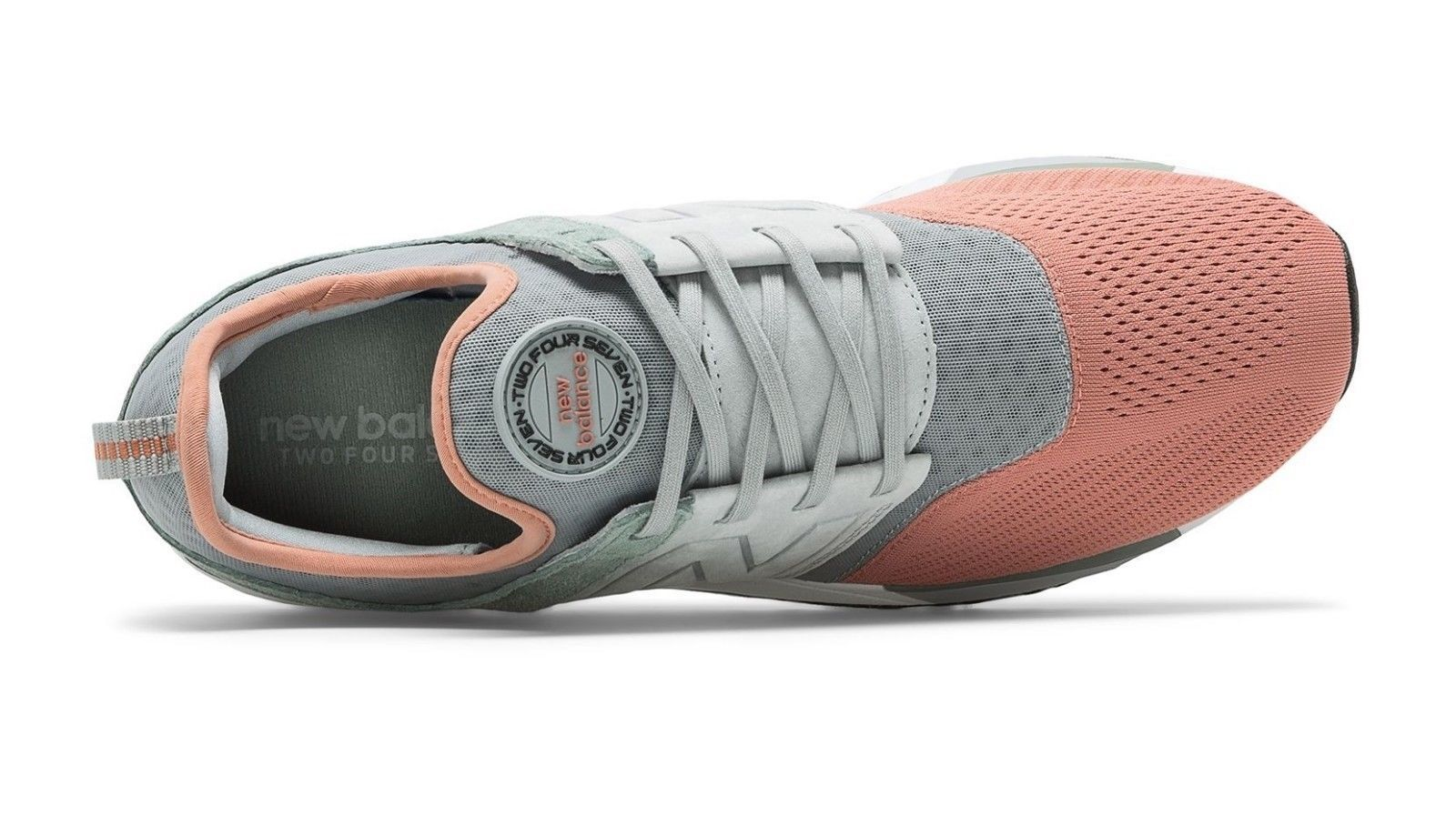 New Balance 247 Wolf Grey/Pink Running Lifestyle Shoes MRL247PK Mens Size 12