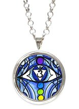 Sixth Chakra Opening Eye Indigo Clairvoyant Clarity Silver Pendant with ... - $14.95