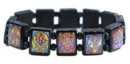 Hindu Gods & Goddesses Manifestation Prayer Black Wood Stretch Bracelet - $14.95