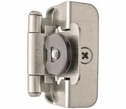 Amerock 1/2in (13 mm) Overlay Double Demountable Satin Nickel Hinge - 2 Pack - $8.82